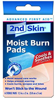 Spenco 2nd Skin Moist Burn Pads, Small (1.5 x 2 Inches), 6-Count