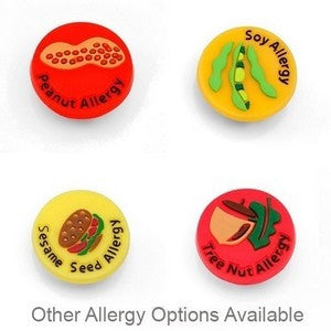 Variety Allergy Buttons for Kids Rubber Medical Bracelet