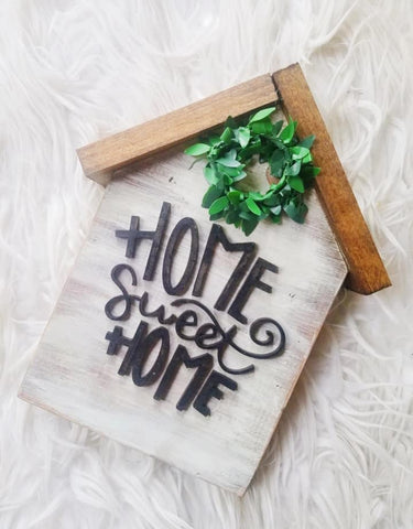 Home Sweet Home SHELF SITTER WOODEN HOUSE