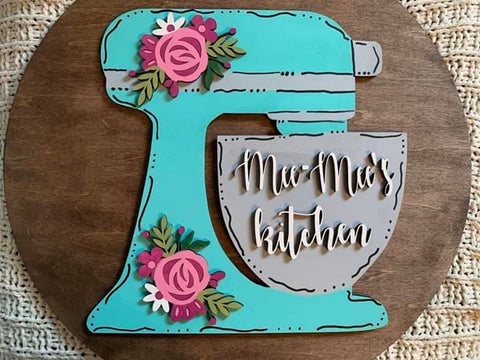 Stand Mixer Round Sign