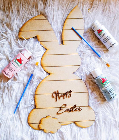 DIY Shiplap Easter Bunny Sign Painting Kit