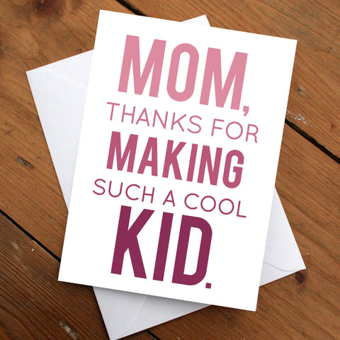 Mother's Day Card // Mom Birthday Card //Mom Card // Greeting card // Funny Card // Gift for Mom // Gift for Woman // Quirky Card //