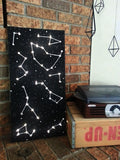 "12"" x 24"" Lighted Constellation Wall Art // Constellation Canvas Painting // Universe Wall Art // Universe // Night Light // Nursery Decor"