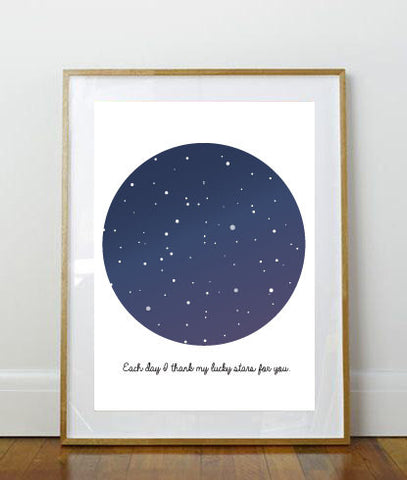Quote Print // Art Print // 8x10 Print // 8x10 // Space Print // Stars // Bedroom Print // Home Decor // Wall Art // Child Print //