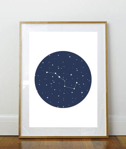 Big Dipper Art Print // Art Print // 8x10 Print // 8 x 10 // Wall Decor // Home Decor // Constellation // Space // Big Dipper // Stars //