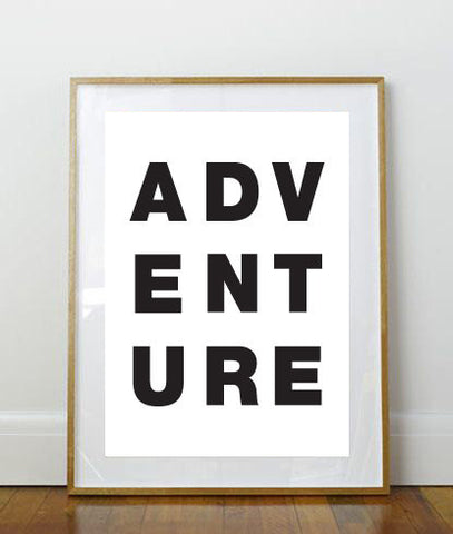 Adventure Print // Art Print // 8 x 10 Print // 8 x 10 // Wall Art // Home Decor // Kid's Room Print // Black and White Print // Simple //