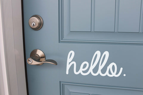 Hello Front Door Vinyl // Home Decor Vinyl // Hello Vinyl // Decals // Removable Vinyl // Home Decor // Curb Appeal // Front Door Decal //