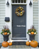 Trick or Treat Front Door Vinyl, Vinyl Decal, Front Door Decal