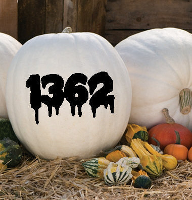 Spooky Vinyl Home Address, Pumpkin Vinyl, Vinyl Decals, Vinyl House Numbers