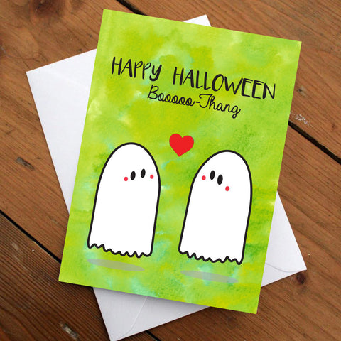 Happy Halloween Booooo-Thang Card, Halloween Card, Love Card, Funny Card