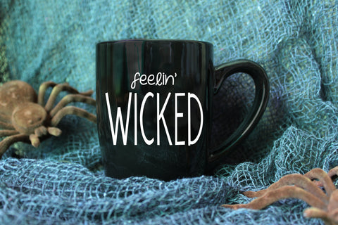 Feelin' Wicked Mug // Halloween Mug // Vinyl Mug // Fall Mug // Autumn Mug