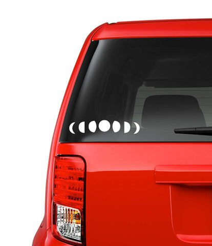 Moon Phases Car Decal // Laptop Decal // Vinyl Decal // Moon Phases // Moon Decal // Laptop Sticker // Window Sticker // Car Accessories //