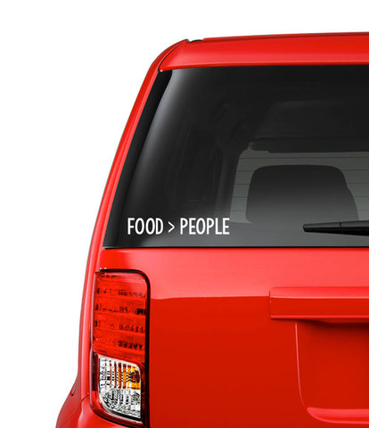 Food > People Decal // Car Decal // Wall Decal // Computer Decal // Vinyl Decal // Custom Decal // Funny // Permanent Vinyl // Food