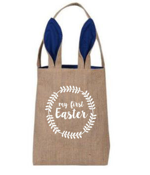 My First Easter Bunny Tote Bag // Easter Egg Basket // Custom Tote // Gift for Child // Easter Bunny // Bunny Tote // Easter Basket