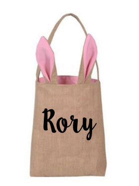 Custom Easter Bunny Tote Bag // Easter Egg Basket // Custom Tote // Custom Name Tote // Gift for Child // Easter Bunny // Bunny Tote