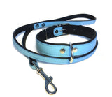 Blue Flat Leather Lead