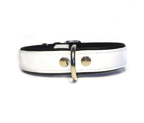 White Leather Collar