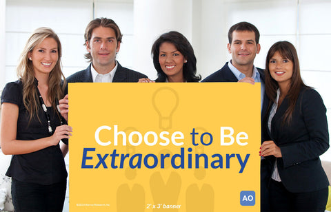 Choose to Be Extraordinary - Individual Success Banner
