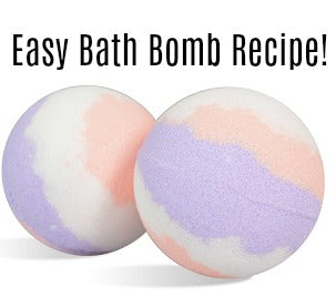 Easy Bath Bomb Recipe - Lavender & Peach