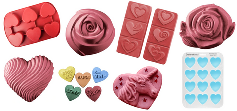 collection of soap molds