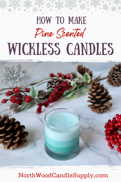 Pine Scented Wickless Candle Pinterest Pin