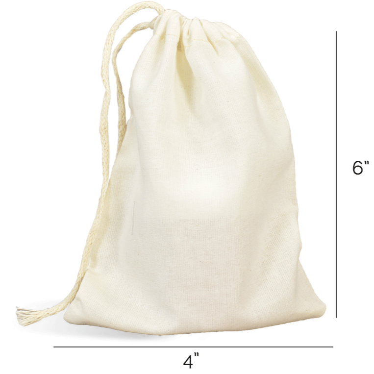 Muslin Bag w/ Drawstring - Made in the USA