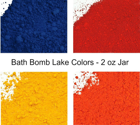 Bath Bomb Lake Color Powder - Value Size 2 oz Jar - 4 Colors