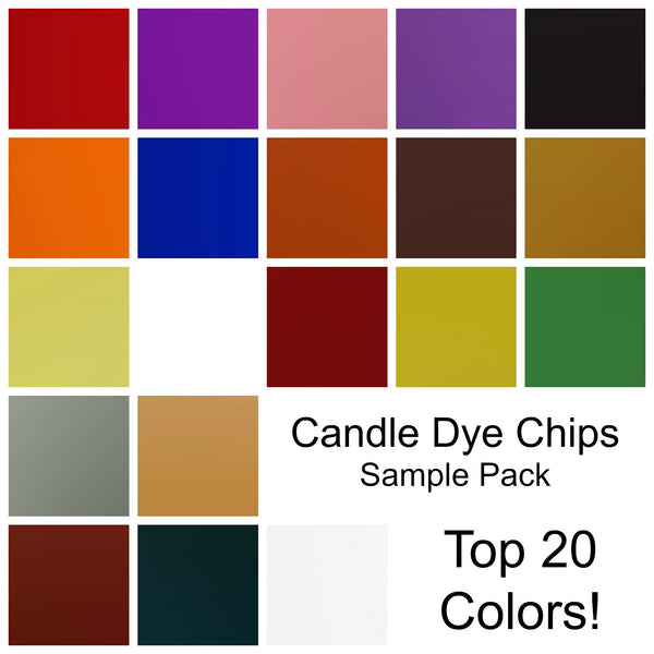 * Sample Pack - Top 20 Candle Dye Colors