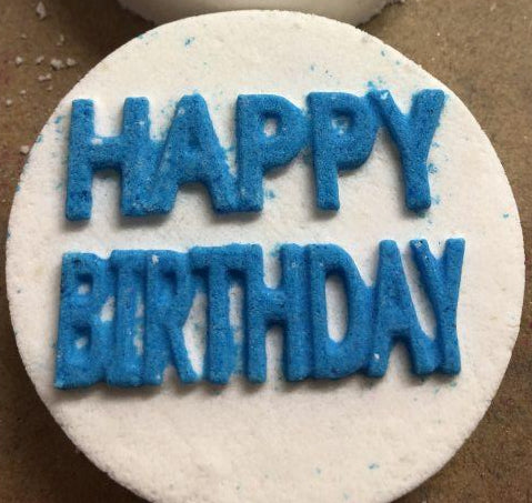 Happy Birthday Bath Bomb Mold
