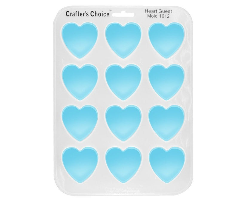 Heart Shape Silicone Mold - Crafters Choice 1612