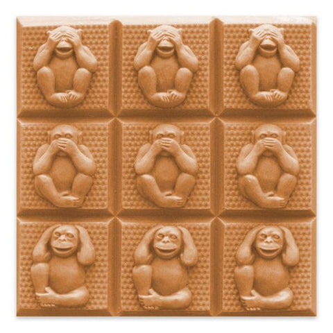Monkey Soap Mold - 3 Wise Monkeys Tray Mold for Soap Making