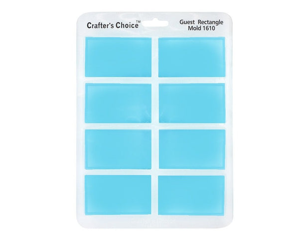 Rectangle Silicone Guest Soap Mold - Crafters Choice 1610