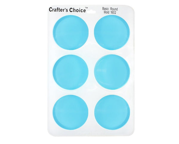 Round Silicone Soap Mold - Crafter's Choice 1602 Basic Round Mold