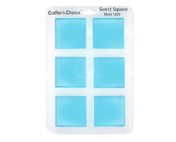 Crafter's Choice 1609 - Guest Square Silicone Soap Mold