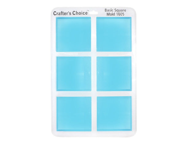 Square Silicone Soap Mold - Crafter's Choice 1605
