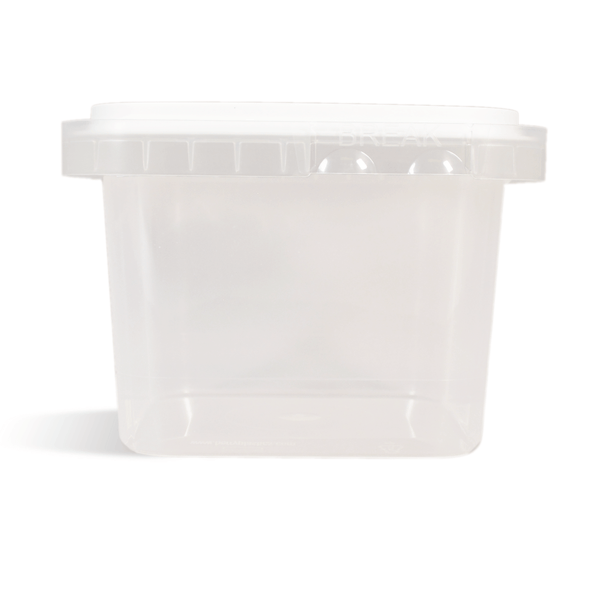 Square Storage Tub with Tamper Evident Lid