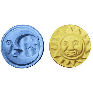Sun & Moon Soap Mold - Makes 5 Guest Size Soap Bars