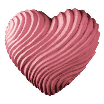 Swirled Hear Soap Mold - Valentines Hear Shaped Mold