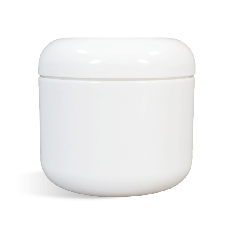 White Cosmetic Jar with Dome Lid - 2oz