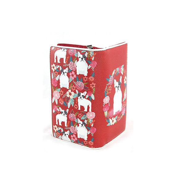 Floral French Bulldog Wallet