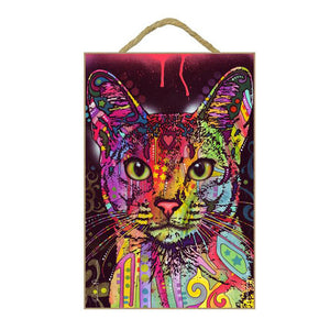 Abyssinian Cat Wood Plaque Sign