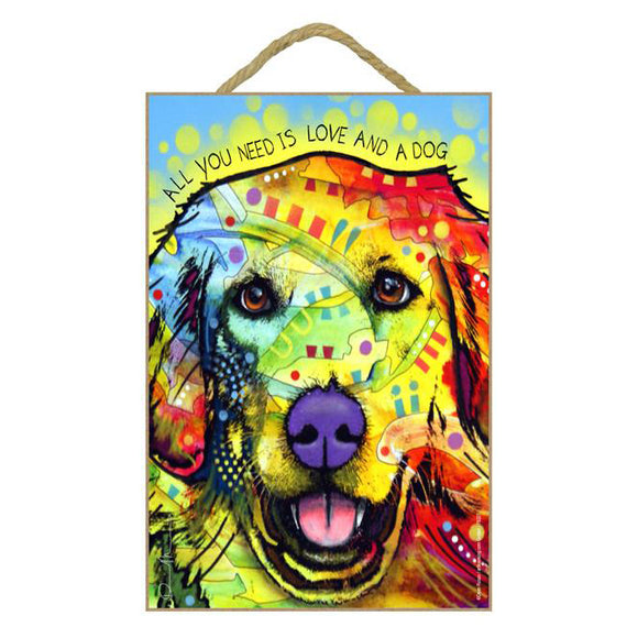 Golden Retriever Wood Plaque Sign