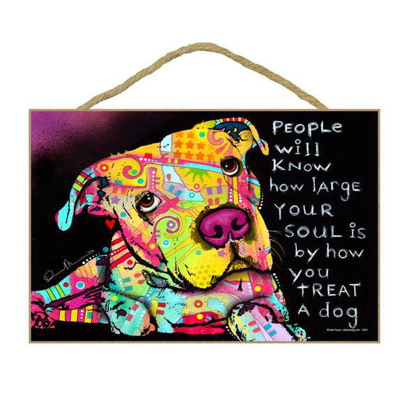 Pit Bull Soul Wood Plaque Sign