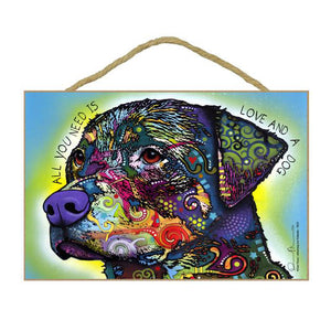 Rottweiler Wood Plaque Sign