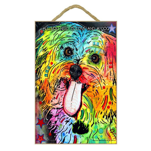 Shih Tzu Wood Plaque Sign