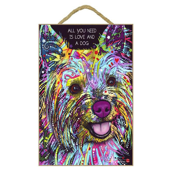 Yorkshire Terrier Wood Plaque Sign