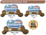BarkBone Dinosaur Dog Chew Toy - Wood and Peanut Butter