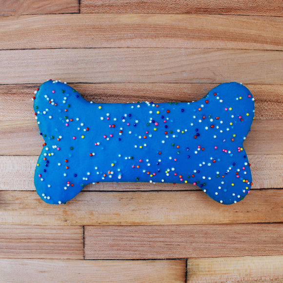 Frosted Blue Sprinkle Dog Treat
