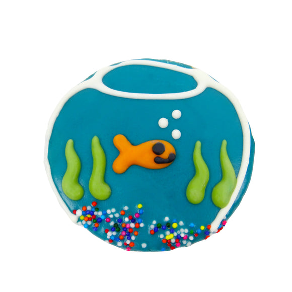Frosted Fish Bowl Dog Treat