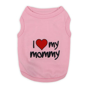 I Love My Mommy Pink Tee